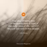 10 Ways to Live Well in this Season