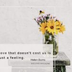 Love That Doesn't Cost Is Just A Feeling